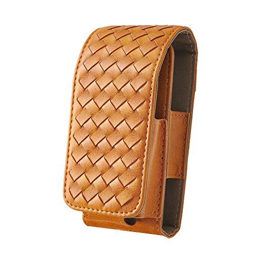 Mr. Bald® iqos Fall Woven Leder Case Halterung tragbar Silikon Case Vape Tragetasche für iqos Elektronische Zigarette (Elektronische Zigarette Tragetasche)