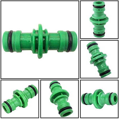 Connecteur pour tuyau Double Mâles Raccords de Tuyaux Connexion rapide tuyau d'arrosage connecteur Eizur connecteur de tube de Jardin, Vert, 6 Pièces