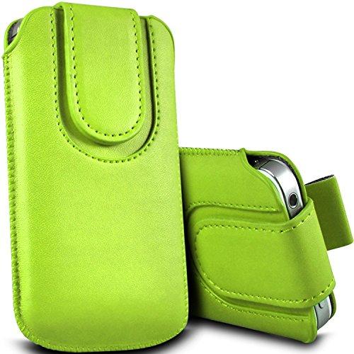 Brun/Brown - Xiaomi Mi 2 Housse et étui de protection en cuir PU de qualité supérieure à cordon avec fermeture par bouton magnétique et stylet tactile pour par Gadget Giant® Vert/Green