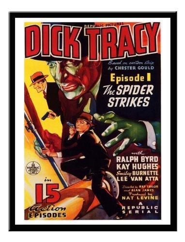 iPosters Dick Tracy Serial Movie Druck 1937Memo Board, Magnet schwarz gerahmt–41x 31cms (ca. 40,6x 30,5cm) (1937-kunst-druck)