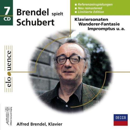 BRENDEL PLAYS SCHUBERT (1970S RECORDINGS, NOT THE LATER DIGITAL RECORDINGS) - PIANO SONATAS D 537, 575, 664, 784, 840, 845, 850, 894, 958, 959, 960,3 Piano Pieces, D.946, 11 Ecossaises, D.781, Hungarian Melody D.817, Allegretto in C minor, D.915, 4 Impromptus Op. 899,4 Impromptus D 935, 16 German Dances, D. 783, D760 Wanderer-Fantasy, 6 Moments musicaux, D.780, 12 GERMAN DANCES D 790 - 7CD BOX SET (NEWLY REMASTERED 2008, LIMITED EDITION) (Schubert Piano Sonata D 845)