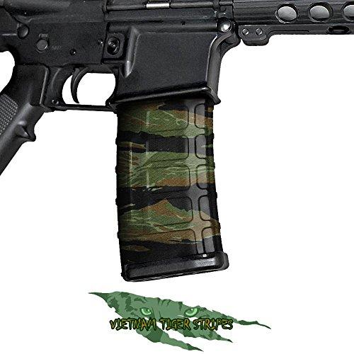 GunSkins AR-15/M4 - Pellicola per impugnatura di armi, motivo mimetico, kit fai da te, confezione (Vietnam Tiger Stripe)