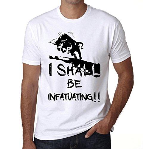 Infatuating maglietta donna maglietta con parola maglietta regalo bianca