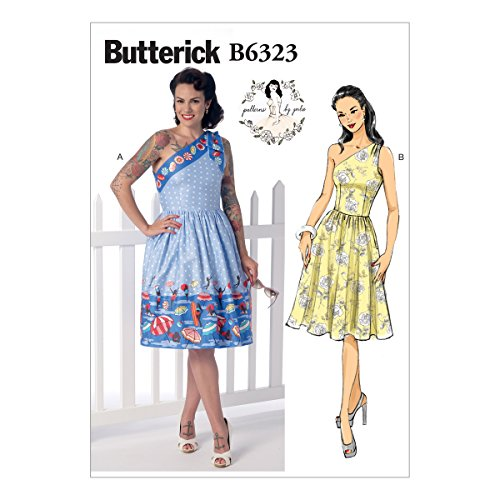 Butterick Patterns B6323 Misses' One-Shoulder Dresses, Size E5 (14-16-18-20-22) by BUTTERICK PATTERNS