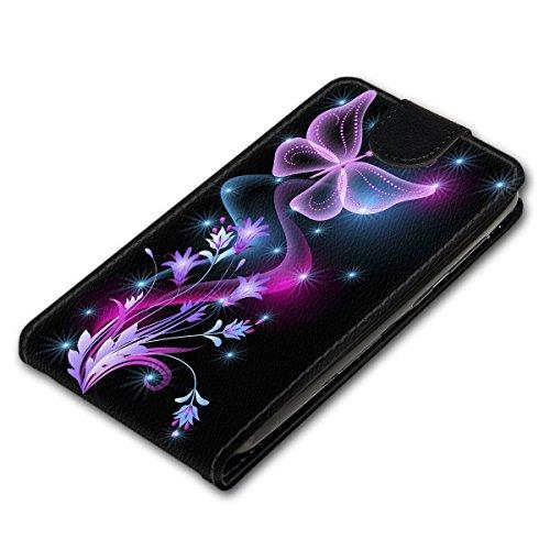 Vertikal Flip Style Handy Tasche Case Schutz Hülle Schale Motiv Etui Karte Halter für Apple iPhone 5 / 5S - Variante VER34 Design7 Design 12