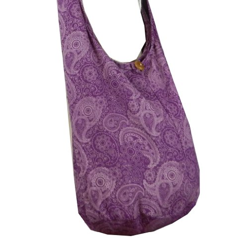 BenThai Products, Borsa a tracolla donna Patchwork Random Colors Height: 14 (Purple PL1)