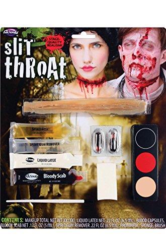 Halloween Slit Throat Zombie Horror Make Up Kit