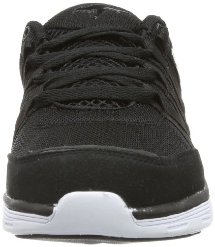 KangaROOS Sweep Run, Sneaker unisex adulto Nero (Schwarz (black/dk grey 522))