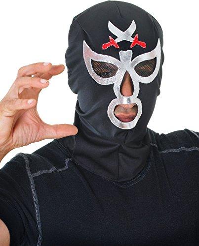 (Erwachsene Ninja Mysterio Kostüm Halloween Party Mexikanisch Macho Wrestler Maske)