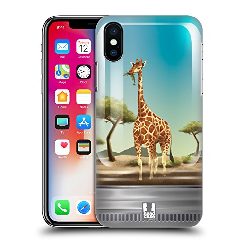 8a529dcf7c Head Case Designs Panda Coccoloso Animali In Barattolo Cover Retro Rigida  per Apple iPhone X Giraffa
