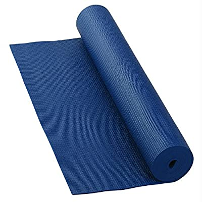 Yogamatte ASANA MAT, rutschfest, 183 x 60cm, 4mm PVC, gute Yoga-Matte nicht nur für Anfänger, Sticky Mat, Gymnastikmatte, phtalatfrei, schadstofffrei