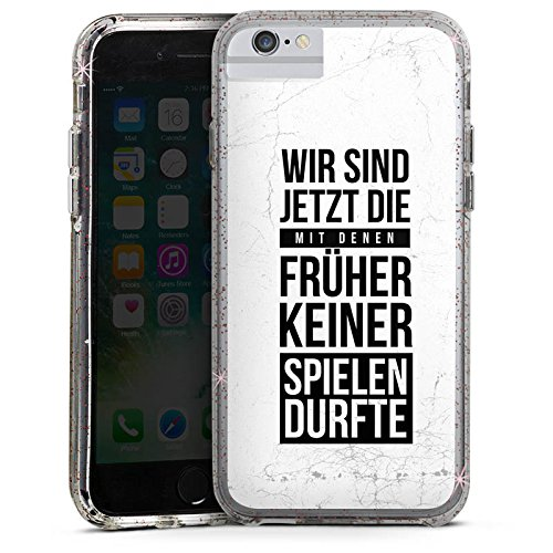 DeinDesign Apple iPhone 6s Bumper Hülle Bumper Case Glitzer Hülle Humor Fun Sayings