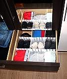 Schubladenteiler verstellbar XXL Weiß -K&B Vertrieb- Schubladeneinteiler Fachteiler universell einsetzbar 655 (12 Stück)