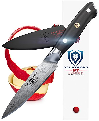 DALSTRONG Paring Knife - Shogun Series - AUS-10V- Vacuum Heat Treated Japanese Super Steel- Vacuum Treated - 95mm - Guard Included