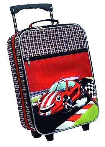 Reisetrolley Kindertrolley Koffer Cars Rennwagen schwarz / rot (Kinder Bekleidung Kleine Multi)