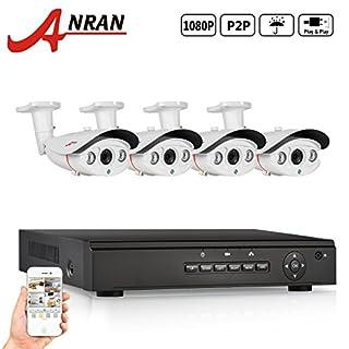 ANRAN 4 Kanal PoE Home Security Kamera-System mit 4 HD 1080p wasserdicht IP PoE Bullet Nachtsichtkamera kein hartes fahren