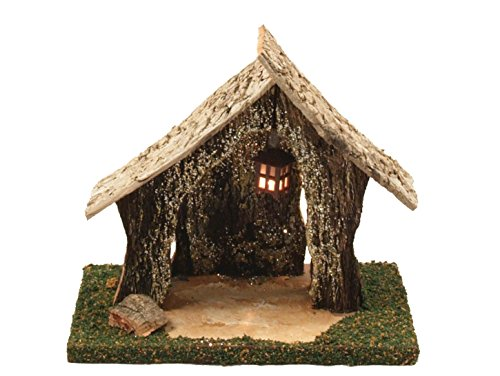 Bertoni vuoto capanna in legno con lanterna, in legno, taglia unica