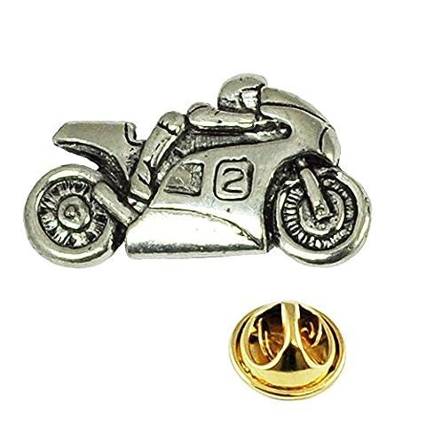 Motorbike Pewter Lapel Pin Badge