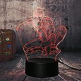 Diapositiva De Luz 3D Luz Nocturna Marvel Biografía Superhéroe Araña Lámpara De Mesa De Rocío Fresco Decoración Del Hogar Regalo De Navidad Juguetes Para Niños Regalo De Cumpleaños