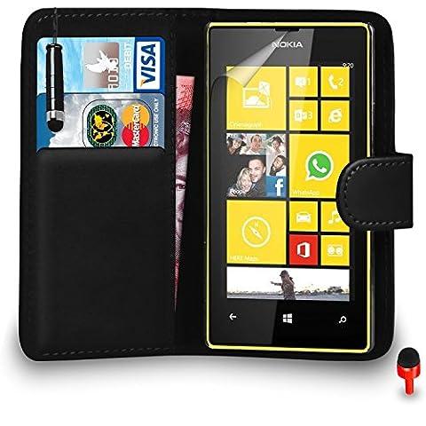 Ecran Tactile Lumia 520 - Nokia Lumia 520 Prime Cuir NOIR Portefeuille