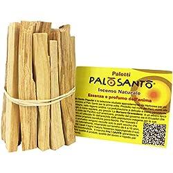 Encens en Bois Pôle Santo Naturel - Variété Popular Suyo 80 GR - Bâton Garanti Arbre Sacré Bursera Graveolens à Parfumer la Maison, Les Chambres. Il détend, purifie et génère de l'énergie Positive
