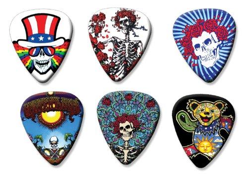 Grateful Dead Set of 6 Loose Gitarre Plektrum Plektron Picks ( Collection D ) (Gitarren Pick Grateful Dead)