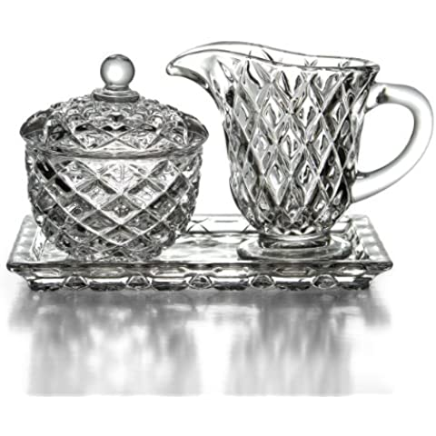 Fifth Avenue Crystal Muirfield Sugar and Creamer Set with