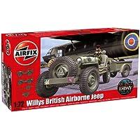 Airfix - Willys British Airborne Jeep, set de modelismo (Hornby A02339)
