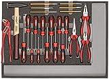 CAROLUS 2250.906 Werkzeugsatz Schraubendreher, Zangen, Hammer, Meißel