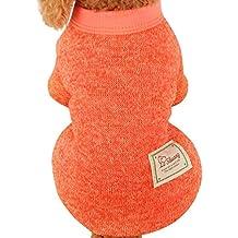 Ropa para mascotas,RETUROM Ropa de abrigo suéter de lana caliente para mascotas cachorro de perro