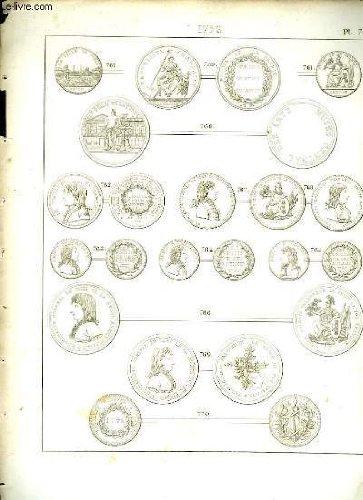 Histoire numismatique de la révolution française. planche n°76 : 1796