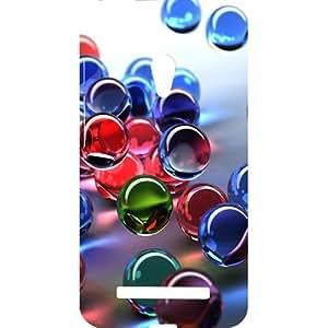 Casotec 3D Bubble Design Design Hard Back Case Cover for Asus Zenfone 5 A500CG