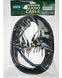 ah Cables KMCO3PPM238 Multicore Kabel 4 x 6,3 mm Klinke stereo auf 8 x 6,3 mm Klinke mono 3 m