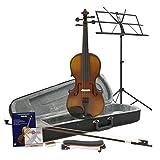 Violon Étudiant Plus 1/4 Aspect Antique + Pack accessoires par Gear4Music