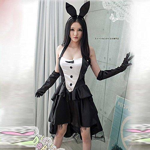 CYY Sexy Kaninchen Kaninchen Mädchen Schwalbenschwanz Kleid Bühne Kleid Cosplay Uniformen Versuchung Rollenspiel