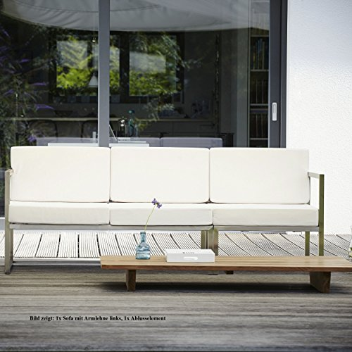 Lux Lounge Sofa 2-Sitzer Armlehne links / weiß