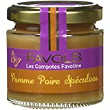 FAVOLS Compotes de Fruits Pomme Poire Spéculoos 120 g - Lot de 6