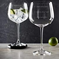 Personalised Gin Glasses for Women/Gin Measure Personalised Engraved Novelty Glass/Gin Glass Christmas Gift Idea/alcohol gifts for women gin