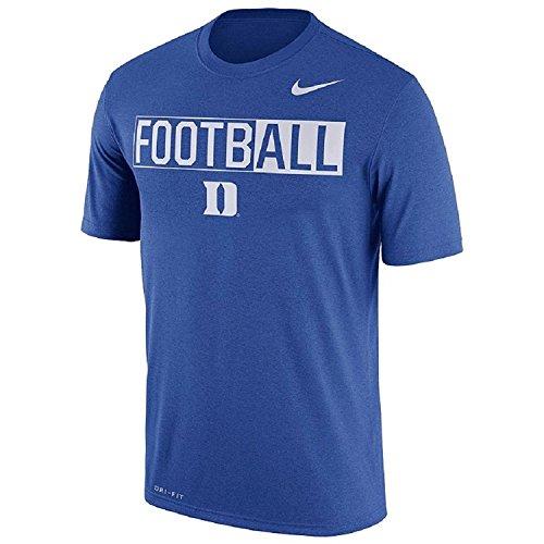 Nike Men's Duke Blue Devils Dri-FIT Football Tee - Devils Crewneck