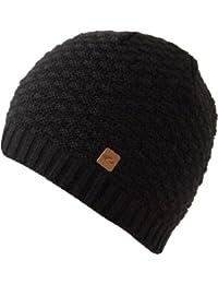 Schöne schlichte Strickmütze KASIM (schwarz)