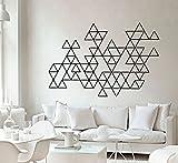 Wandtattoo Dreiecke Umrisse Geometrisch Formen Dekoration Aufkleber - 120 x 77 cm