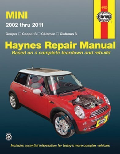 mini-cooper-cooper-s-clubman-clubman-s-2002-through-2011-haynes-repair-manual-1st-edition-by-haynes-