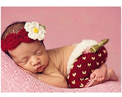 Strawberry Kostüm Baby - hobees Süße Neugeborene Jungen Mädchen Baby Kostüm Fotografie Requisiten Strawberry Hat Hose