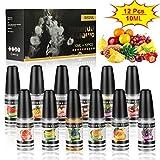 Vape Liquid 12 x 10ml,E Liquids for E-Cigarette,E Liquid Vape Juice Liquid Without