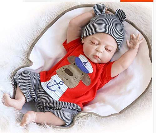 ZIYIUI Muñecas Bebé Reborn Dolls 20 Pulgadas 50 cmFull Body Silicone Realista Newborn Handmade Baby Muñecas Bebé Xmas Gift