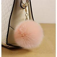 Llavero Bola Pelo de Conejo Llaveros Lindo Encanto Suave para Bolsa Telefono Auto Coche de Beauty DIY Mart