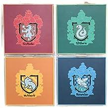 Posavasos Harry Potter con licencia de toda la casa Gryffindor Hufflepuff Slytherin Ravenclaw 4 posavasos de