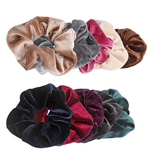 18% OFF on Jaciya 10 Pack Hair Elastics Scrunchies Velvet Scrunchy Bobbles  Soft Elegant Elastic Hair Bands Hair Ties on Amazon  b85659b1645