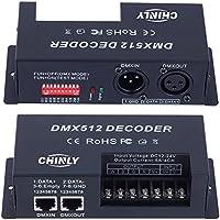 4 canales 20A DMX 512 LED Decodificador Controlador DMX regulador de intensidad usar para DC12-24V RGB/RGBW/Monocromo LED LED tira