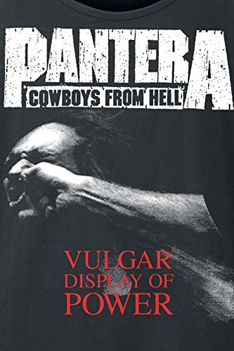 Pantera Vulgar Display Of Power Tank-Top schwarz Schwarz